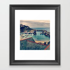 Grey Clouds Above The Ferocious Water  Framed Art Print