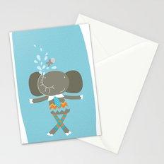 happy elephant Stationery Cards