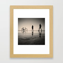 Beach Reflections Framed Art Print