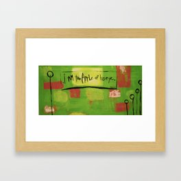 I am the apple of his eye Framed Art Print