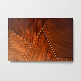 Geometric Grain Metal Print