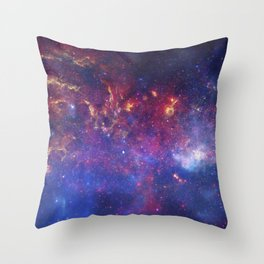 the milky hand of the spiral   space #10 Throw Pillow