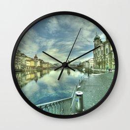 Lucerne Jesuit Church Wall Clock