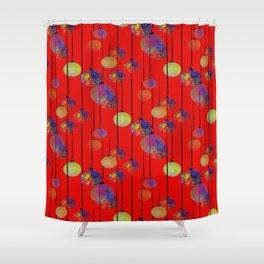 Christmas Frills Shower Curtain