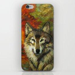 October Wolf iPhone Skin