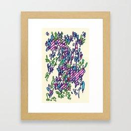 Vertical growth algorithms hindering horizontal expansion Framed Art Print