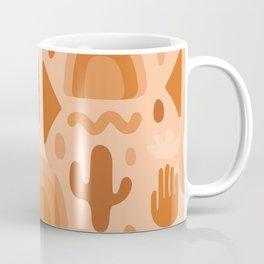 Orange Cutout Print Coffee Mug