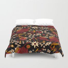 Australian Natives Red Blossom Duvet Cover