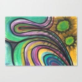 Rainbow Folds Canvas Print