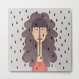 you look like rain Metal Print