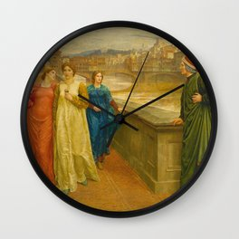 Henry Holiday - Dante And Beatrice Wall Clock