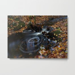 Autumn Forest Stream III Metal Print