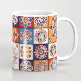Vintage patchwork with floral mandala elements Coffee Mug