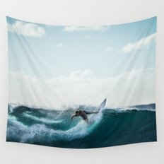 Surfing  Wall Tapestry