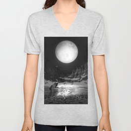 Somewhere You Are Looking At It Too Unisex V-Neck