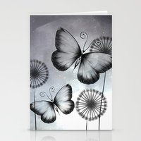 butterflies Stationery Cards featuring Butterflies by LouJah