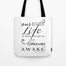 Typography Quote Art Print Tote Bag