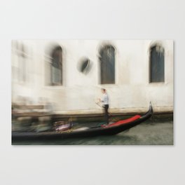 A ride on the venitian canal Canvas Print
