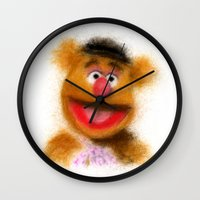 muppets Wall Clocks featuring Fozzie, The Muppets by KitschyPopShop