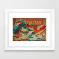 Nike Dunk Hi Pro SB Supreme   Highsnobiety Framed Art Print