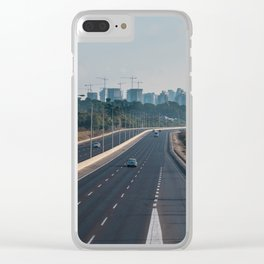 Natanya cityscape in early morning light Clear iPhone Case