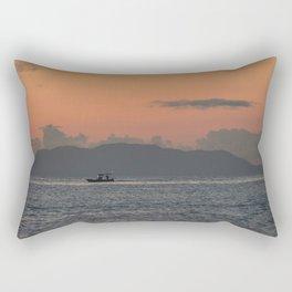 Sailing lonely Rectangular Pillow