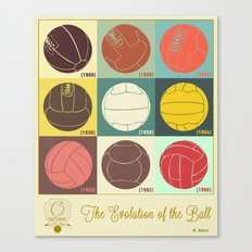 The Evolution of the Ball Canvas Print