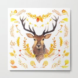 Autumn Deer Metal Print