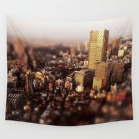 tokyo Wall Tapestries featuring Tokyo by Sushibird