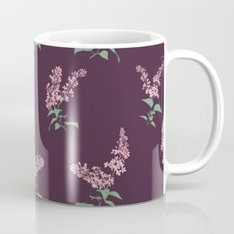 Lilac Flowers Spring Pattern Coffee Mug