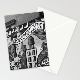Black and White, Williamsburg Brooklyn Wall Art Stationery Cards