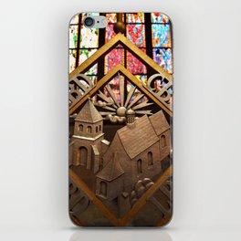 Metal Decoration in St Vitus Cathedral, Prague iPhone Skin