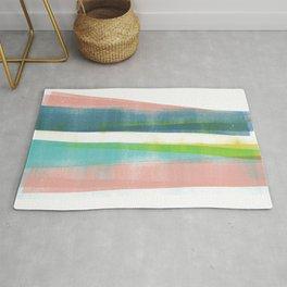 Colorful Geometric Abstract Minimalist Monotype 2 Rug