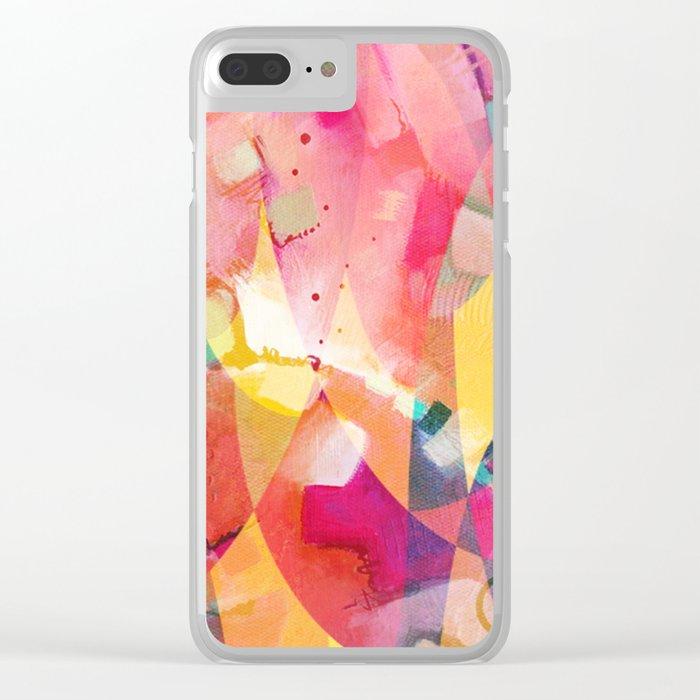 Sunrise Mess Clear iPhone Case