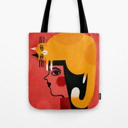 YELLOW CAT HAT Tote Bag