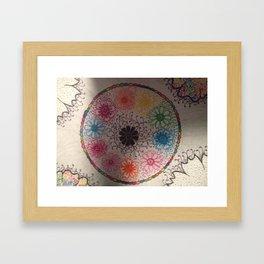 Cirle around the flowers... Framed Art Print