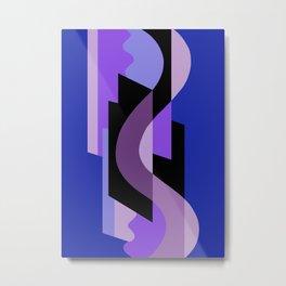 SUISSE - Art Deco Modern: BRIGHT MIDNIGHT Metal Print