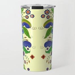 Folklore Flower tapestry Travel Mug