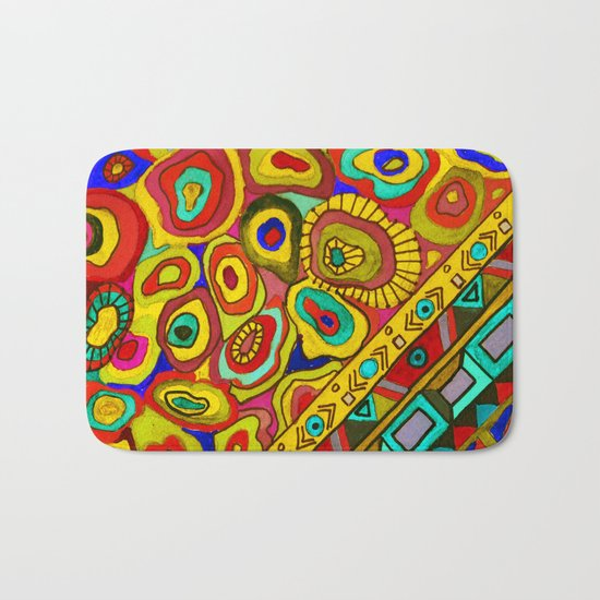 An abstract textured pattern in Oriental style 2 . Bath Mat