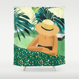 Chill #illustration #travel Shower Curtain