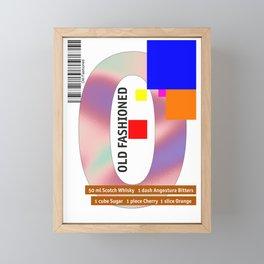 "Cocktail ""O"" - Old Fashioned Framed Mini Art Print"