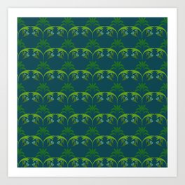 Green Wheat Floral Art Print