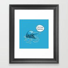 Find Your Porpoise Framed Art Print