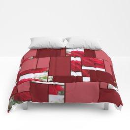 Red Rose Edges Art Rectangles 8 Comforters
