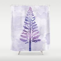 arya Shower Curtains featuring Feather Tree by Hinal Arya