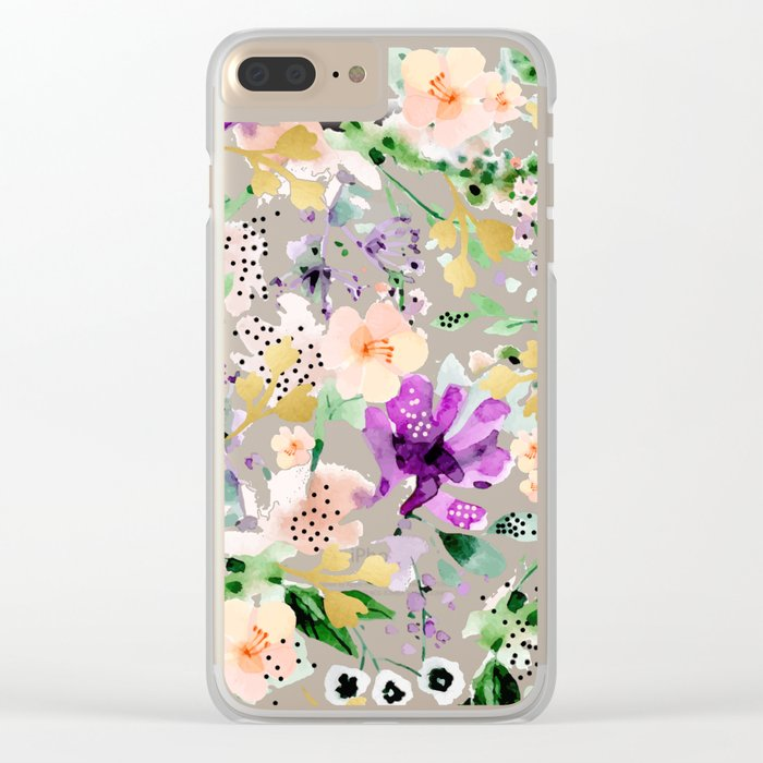 Violet #society6 #decor #buyart Clear iPhone Case