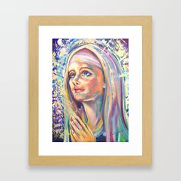 Saint Clare of Assisi, potrait Framed Art Print