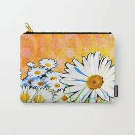 Daisies - Orange and Gold Carry-All Pouch