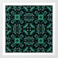 malachite Art Prints featuring Malachite fantasy by ESZAdesign™