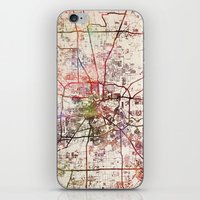 houston iPhone & iPod Skins featuring Houston by MapMapMaps.Watercolors